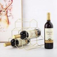 Nordic Brife Metal Wine Rack Whiskey Holder Cabinet for Wine Display Restaurant Bar Dinning Living Room Decoration Accessories