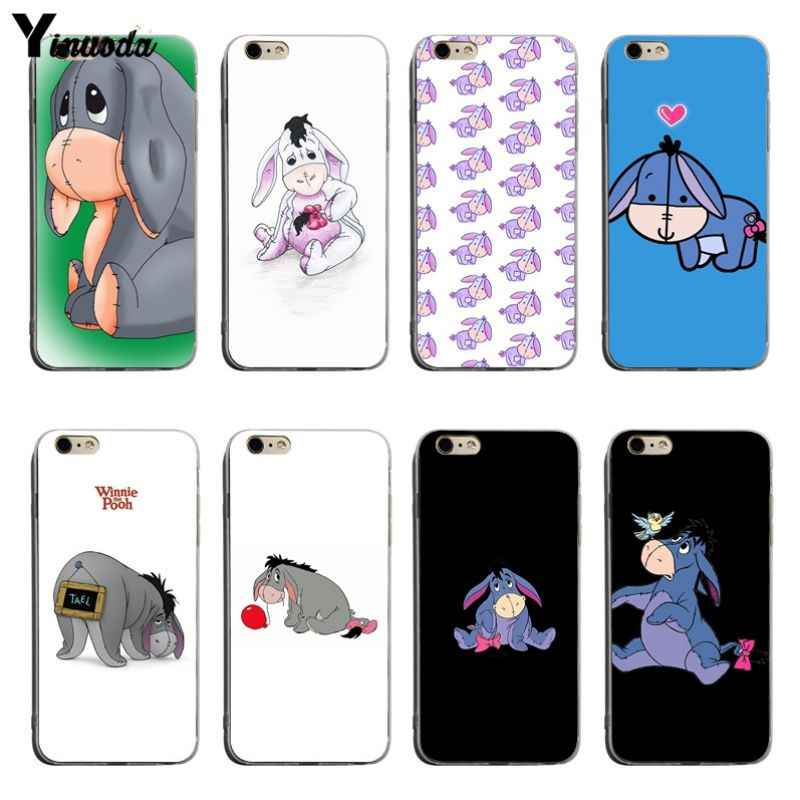 3fb3f6b902 Yinuoda Baby Eeyore Eeyore Donkey Soft silicone cover Case For iPhone XSMax  X XS XR 7 7Plus 8 8plus 6 6s 6plus
