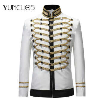 YUNCLOS  Male Single Breasted Suit Jacket Men Military Stage Suit Fashion Drama costume Party Blazer Men Plus Size - DISCOUNT ITEM  35% OFF All Category