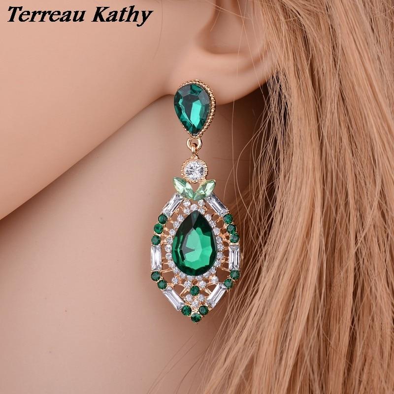 f5f50379859f Terreau Kathy 3 colores luxuriousjewelry Bohemia pendiente agua Pendientes  de gota para las mujeres bke644-e646
