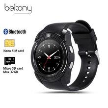 Продажа Beitony Смарт-часы Фитнес трекер Nano SIMCard Whatsapp и Facebook Smartwatch Для женщин Бизнес для IOS Android PK DZ09 GT08