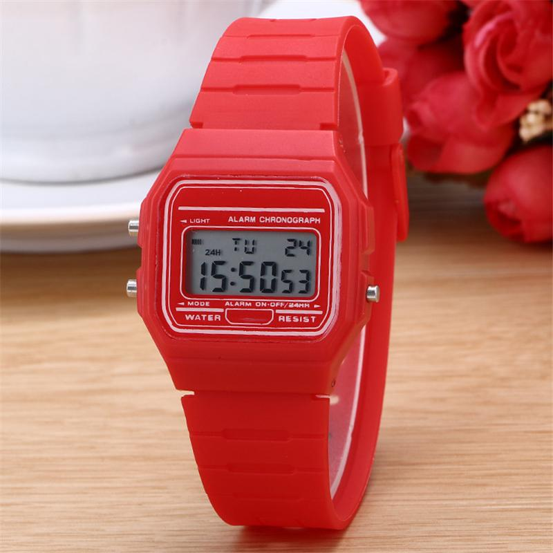 Shop2828020 Store New Fashion Geneva Candy Colors Silicone Couple Watch digital watch square military men/women dress sports watches whatch women