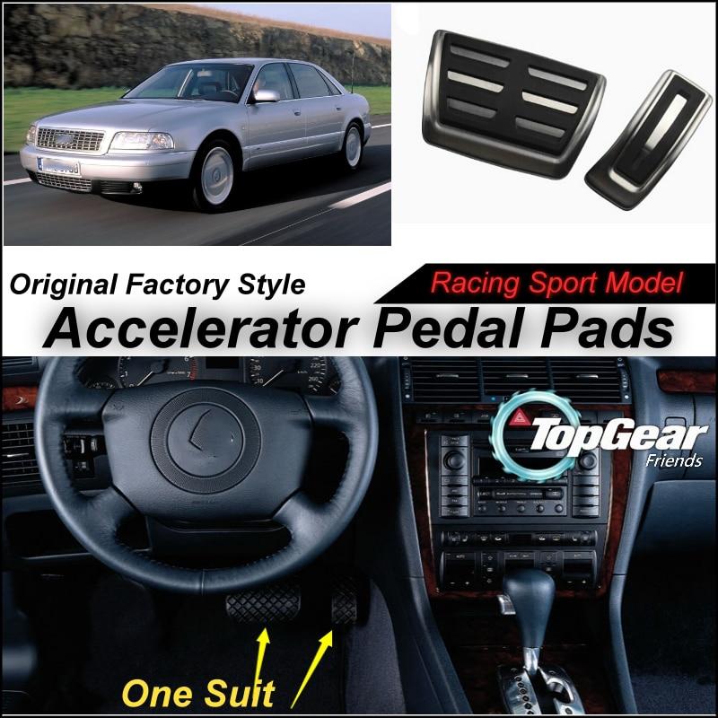 Litanglee Car Accelerator Pedal Pad / Cover of Original Factory Sport Racing Model Design For Audi A8 D2 4D 1994~2002 Tuning