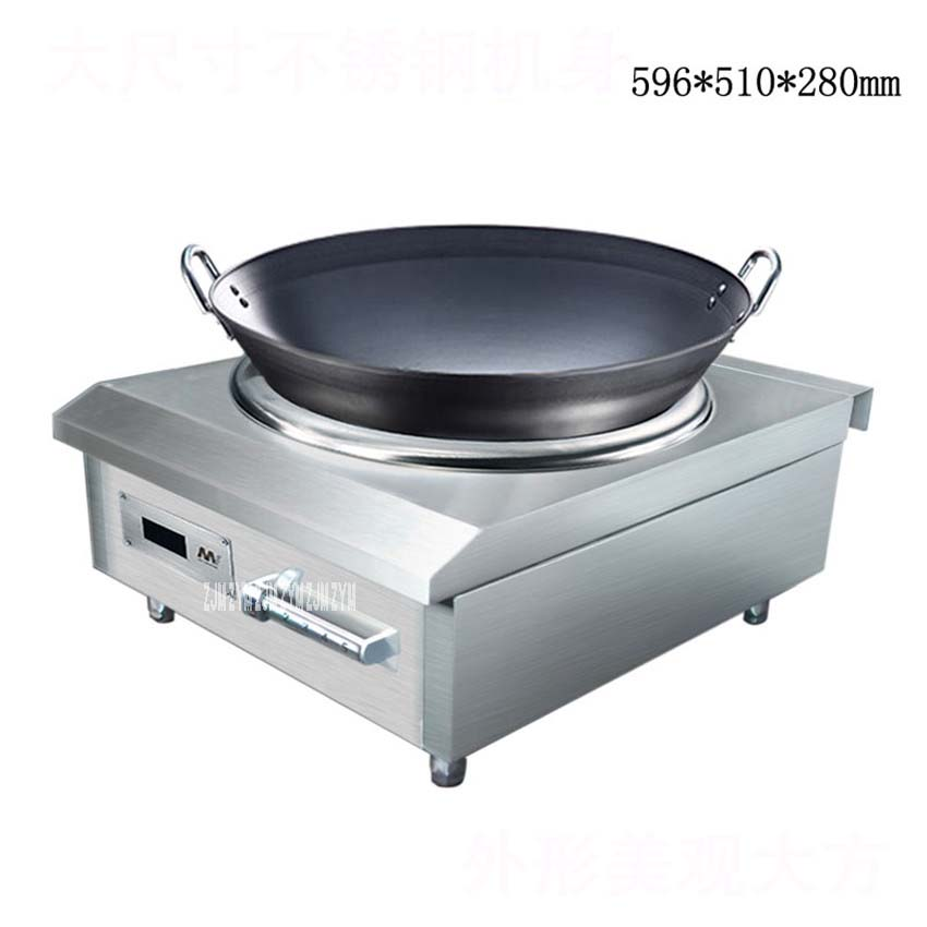 8000W Concava In Stainless Steel High Power Induction Cooker Commercial Stove Electromagnetic Furnace Industrial Electric Frying Cookers From