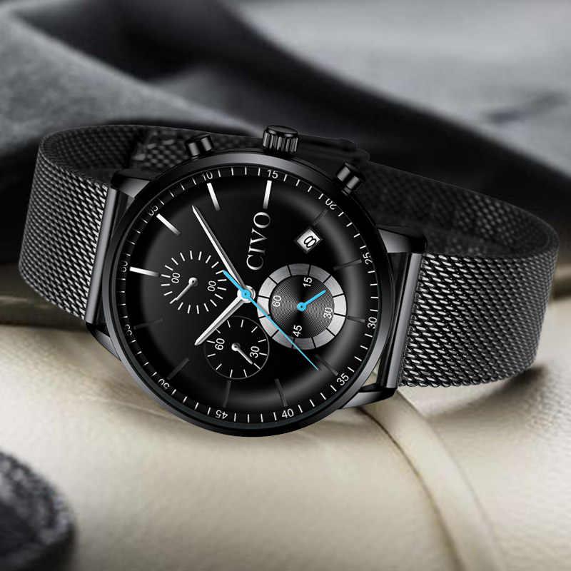 Reloj Masculino deportivo militar de cuarzo para hombre, relojes de pulsera a prueba de agua con cronógrafo, relojes de marca superior de lujo Erkek Kol Saati