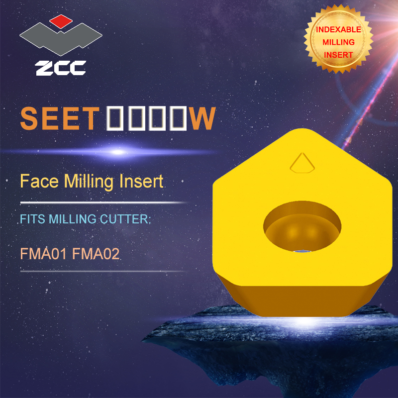ZCC.CT lathe inserts SEET SEET-W for indexable profile milling tool FMA01 FMA01 for face milling indexable milling tools cnc milling tool smp01 100 4 a27 sn12 10 with 10pcs xseq1202 carbide milling inserts indexable face and side milling head