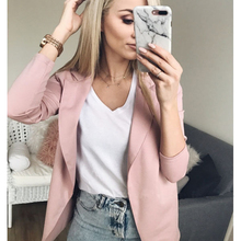 Slim Short Suit Women Jackets and Coats Autumn Winter Women Slim Jacket Coat Office Casual Long Sleeve Casual Outwears