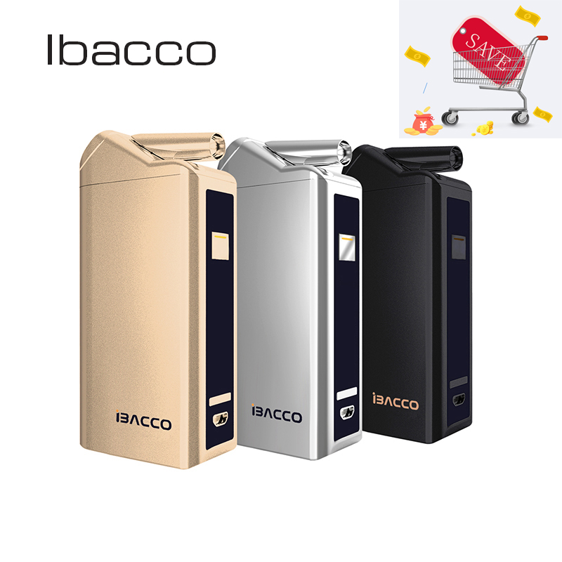 Ibacco Kit Heat Not Fire Vape Electronic Cigarette Vape Mod Box Vaporizer For Heating Tobacco 5 Smart Working Modes