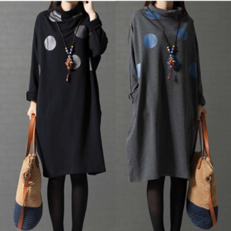 308451e1bfb Maternity Dresses Full Sleeve Loose Casual High Collar Pregnancy Clothes  Hot Sale Spring Winter Pregnant Dress CE338-in Dresses from Mother   Kids