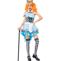 New Halloween Cosplay Costumes Blue Fairyland Alice Queen Role Play Costume Accessories Wholesale Game Uniform L189102