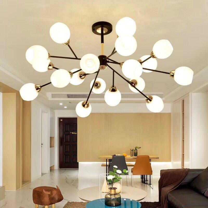 Ceiling Lights & Fans Modern Led Chandeliers Lighting Glass Suspended Lamps Luxury Deco Fixtures Living Room Pendant Luminaires Bedroom Hanging Lights Lights & Lighting