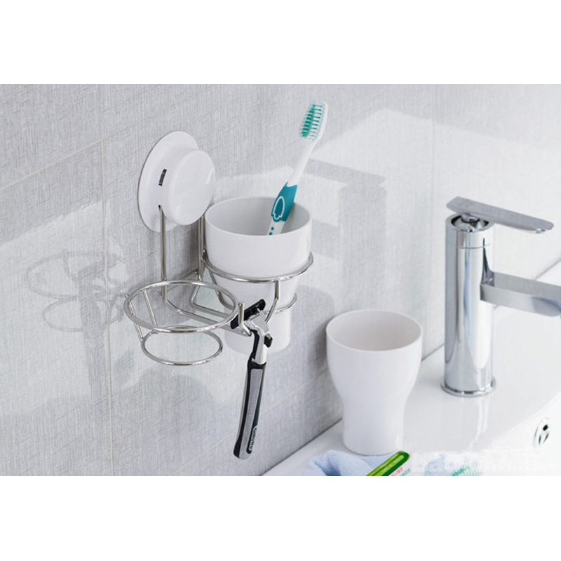 bathroom cup holder suction cup bathroom toothbrush cup holder with rh aliexpress com suction cups for bathroom fittings Suction Cup Mirror Bathroom