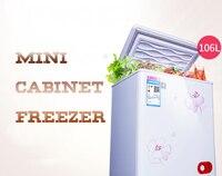106L бытовой мини холодильник с большой ёмкость низкая шум Мощность экономии морозильник холодной и морозильной BD/BC 106E