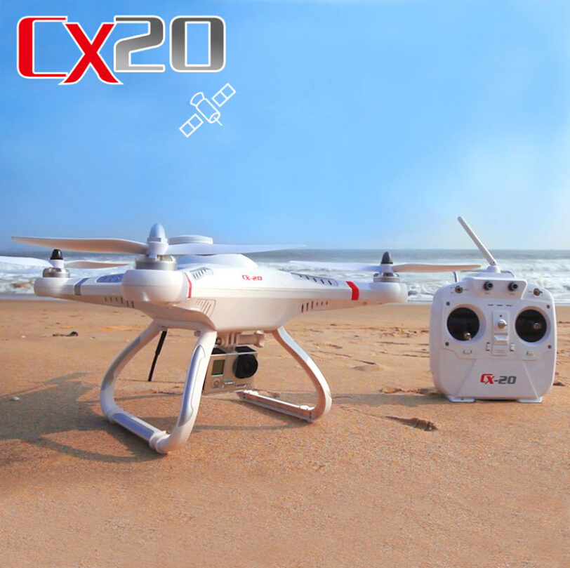 Brand New GPS 2.4G RC Quadcopter CX20 CX-20 Auto-Pathfinder Aircraft FPV RC Quadcopter gopro With GPS Camera optional Drone RTF