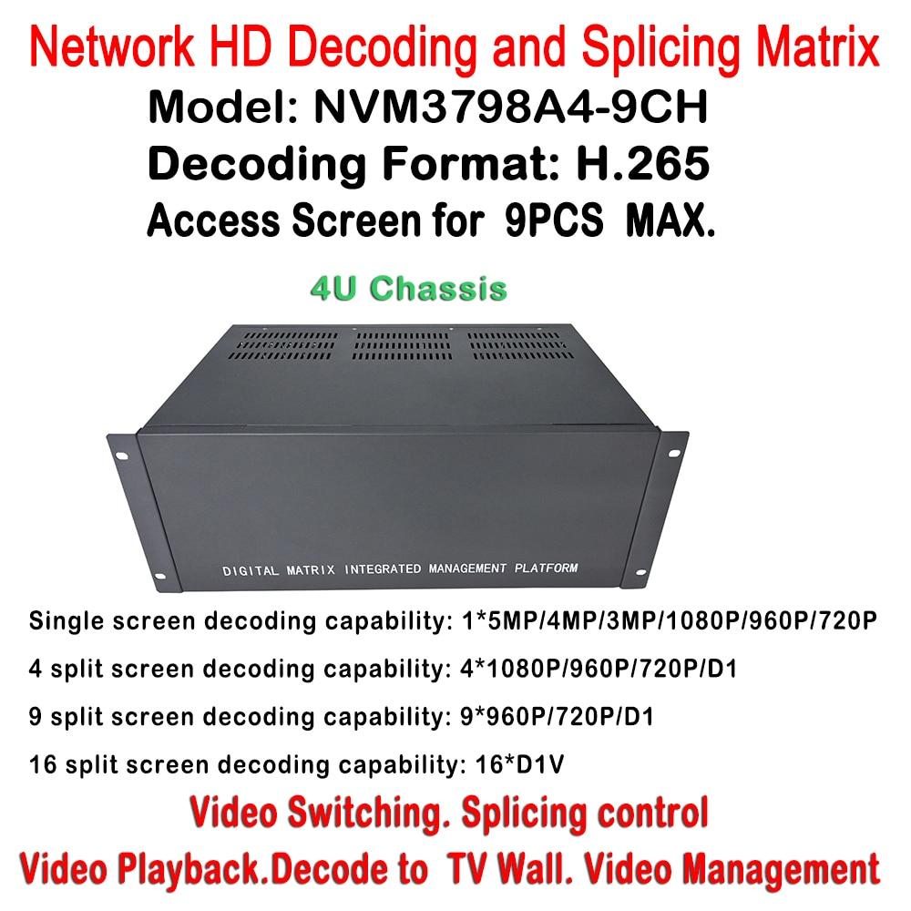 4U 5MP IP Camera H.265 Security Video Decoder For 9ch  Monitor Display,Split 1/4/9/16  Screen4U 5MP IP Camera H.265 Security Video Decoder For 9ch  Monitor Display,Split 1/4/9/16  Screen