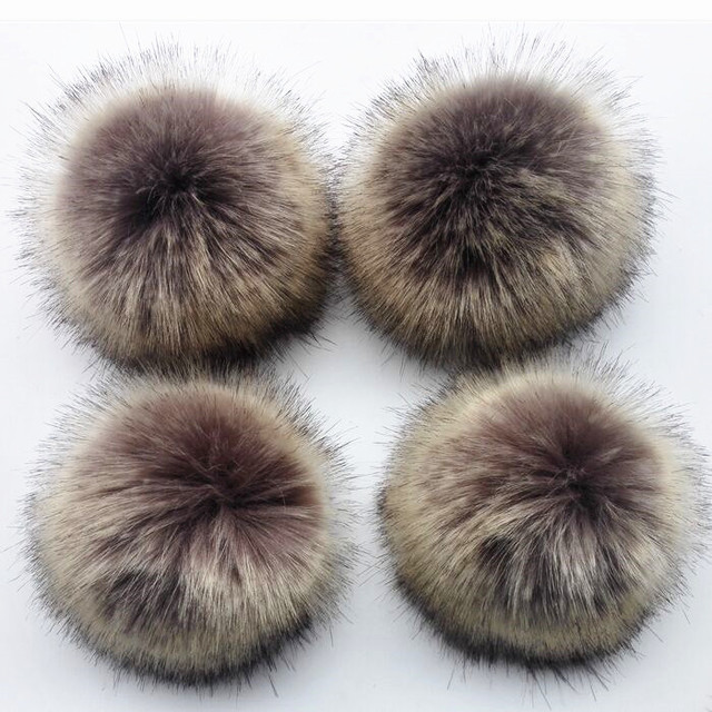c809c3082b7 12cm Fluffy Fur Pompom For Bags Clothing Accessories Anti Press Artificial  Polyester Pom pom Ball For Hats Knitted Beanie Caps