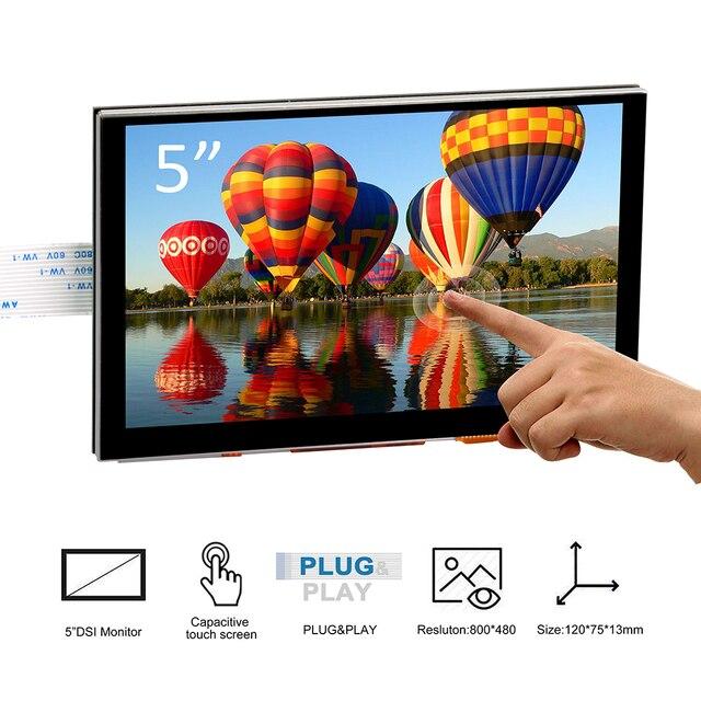 5 pulgadas 800x480 Raspberry Pi TFT pantalla táctil DSI conector LCD de pantalla Raspberry Ubuntu MATE Kali RetroPie sistema