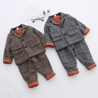 New Spring Autumn Baby Boys clothes sets Fashion Children clothing suits Long Sleeve coat + Pants 2pcs cotton Kids formal suit