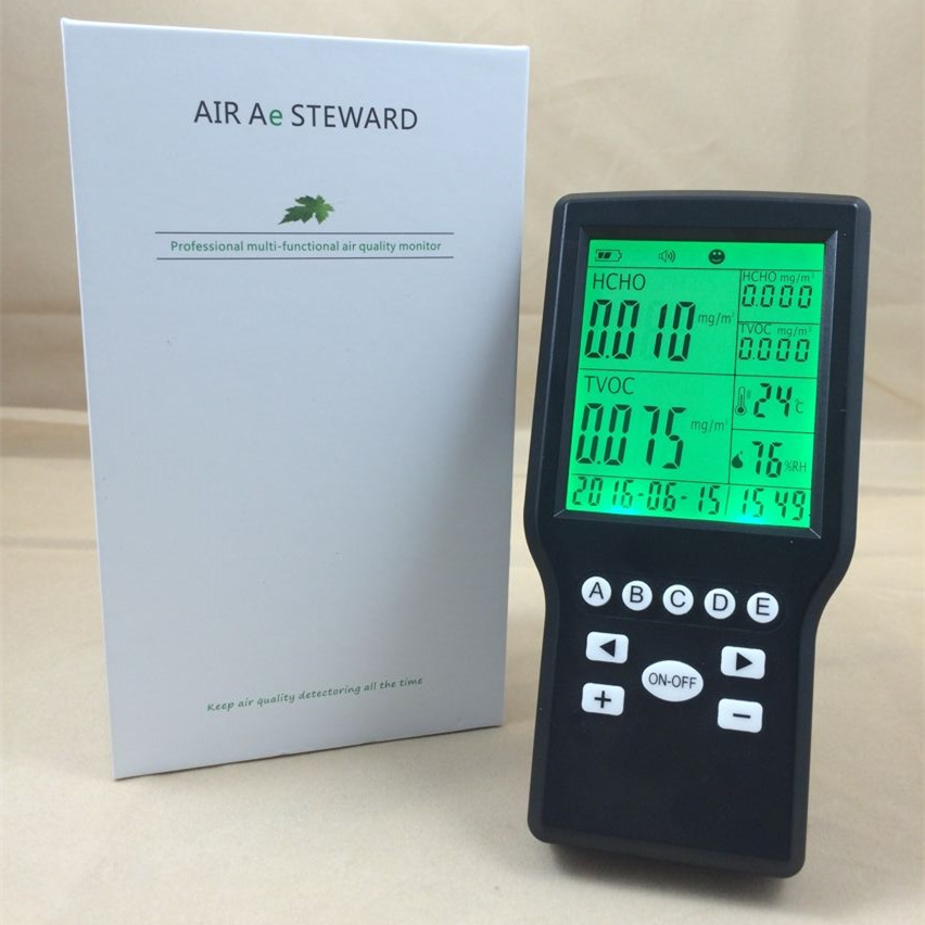 Portable indoor formaldehyde gas detector TVOC air quality monitor tvoc air quality monitor indoor smart formaldehyde air quality detector