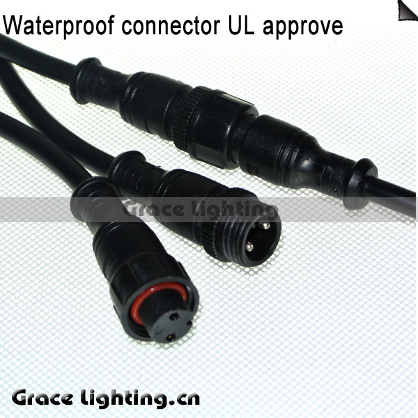 Free Shipping 10pcs Waterproof Connector 2 Pin Wire DC Power Cable 2 ...