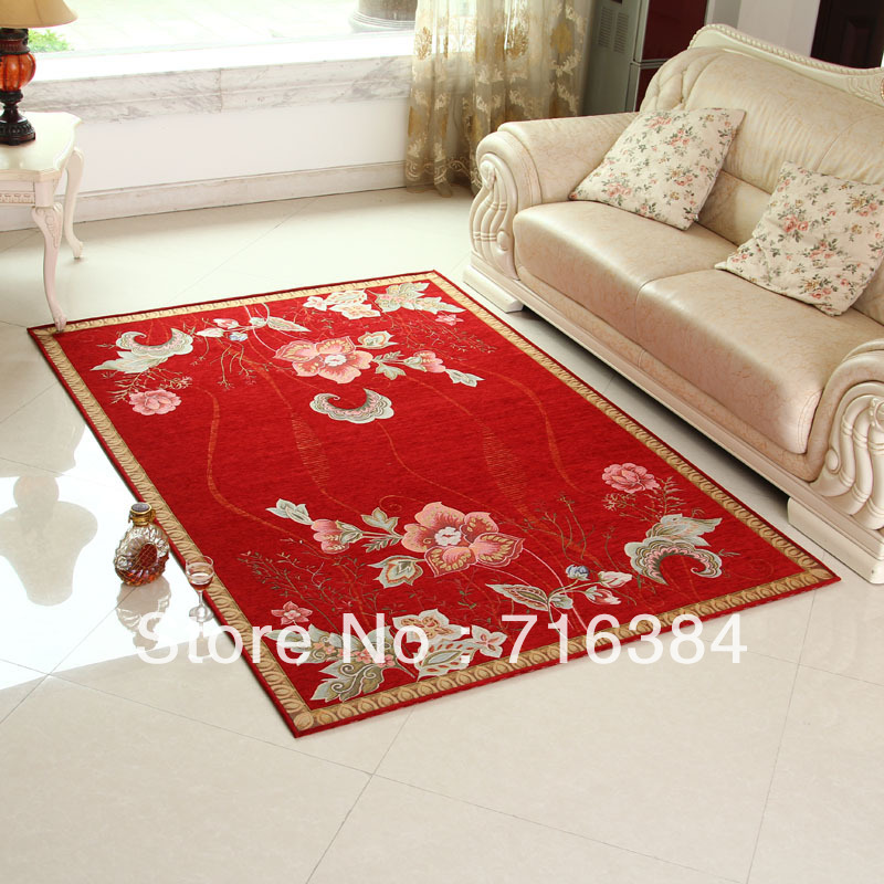 Aliexpress Chinese Style Printed Carpet 50cm 80cm Red Area Rugs For