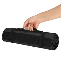 Professional Cutlery Chef Bag – Knife Roll Bag for Chefs Fits up to 22 Knives Black