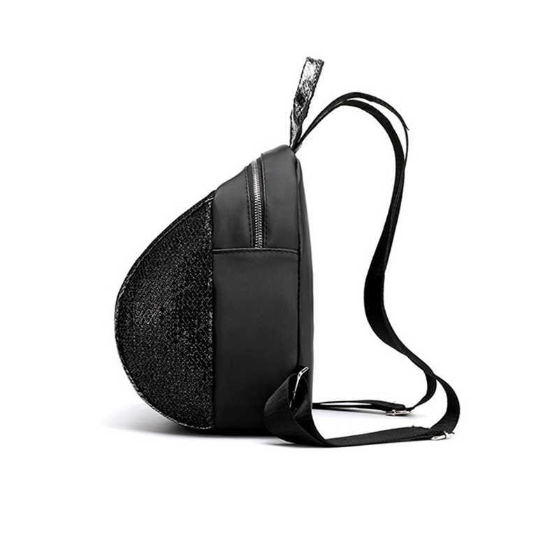 Корейский стиль рюкзак с пайетками Женские повседневные маленькие/хаки рюкзак женский туристический школьный рюкзак для девочек-подростков