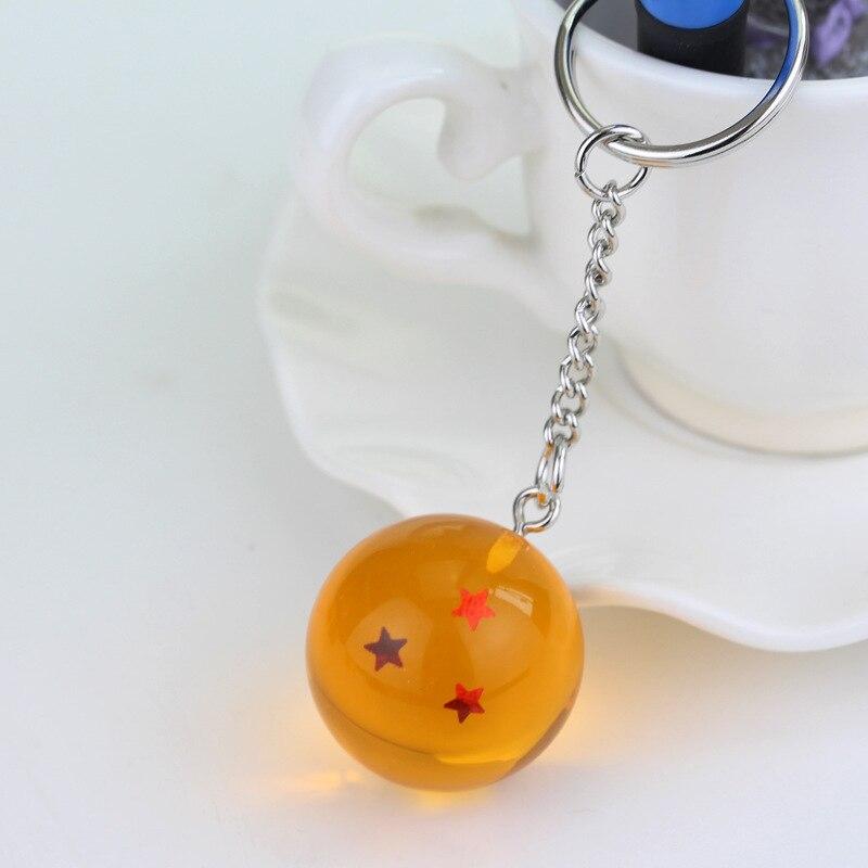 Мода Аниме Шарм Гоку Драконий жемчуг супер брелок 3D 1-7 звезд Косплей хрустальный шар брелок Коллекция игрушек подарок брелок - Цвет: style 3