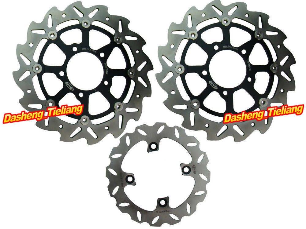 Front Rear Brake Disk Rotors Set For Kawasaki VERSYS 650 2007-2014 & ZX6RR NINJA 600 2003-2006 & ER6N ER6F 650 2006-2015