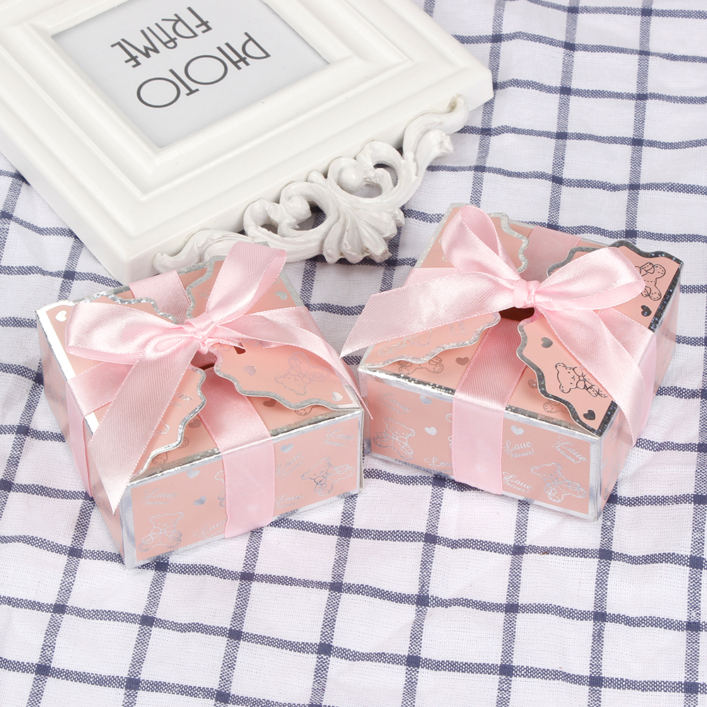 12pcs Baby Bear Favor Box Bomboniere Gift Candy Boxes Baby Shower ...