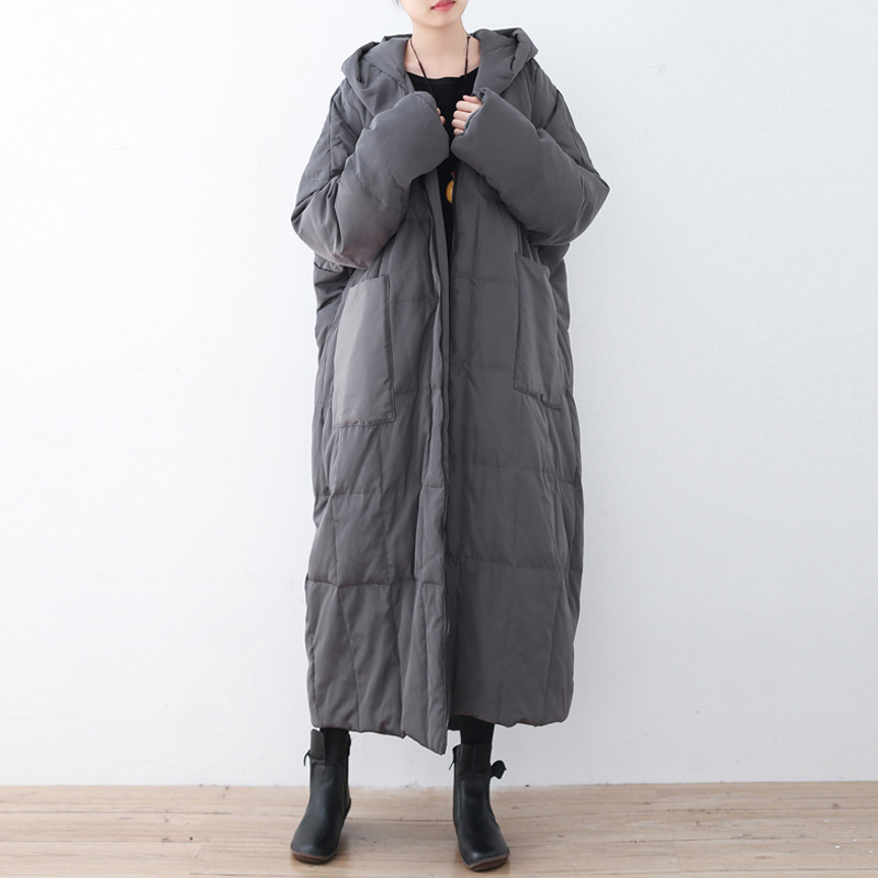 Johnature Women Solid Color Down Coats Hooded Vintage Warm 2019 Winter New Plus Size Women Clothing