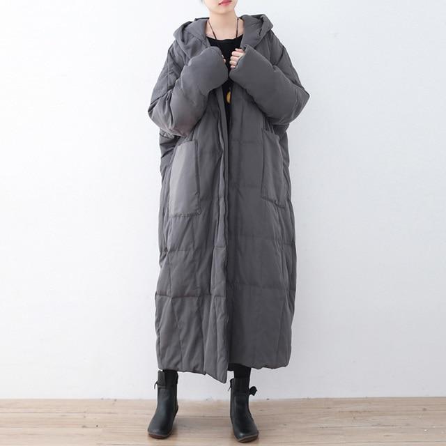 Женская однотонная пуховая куртка с капюшоном; сезон зима 2018; Новинка; большие размеры; женская одежда с карманами; пальто высокого качества