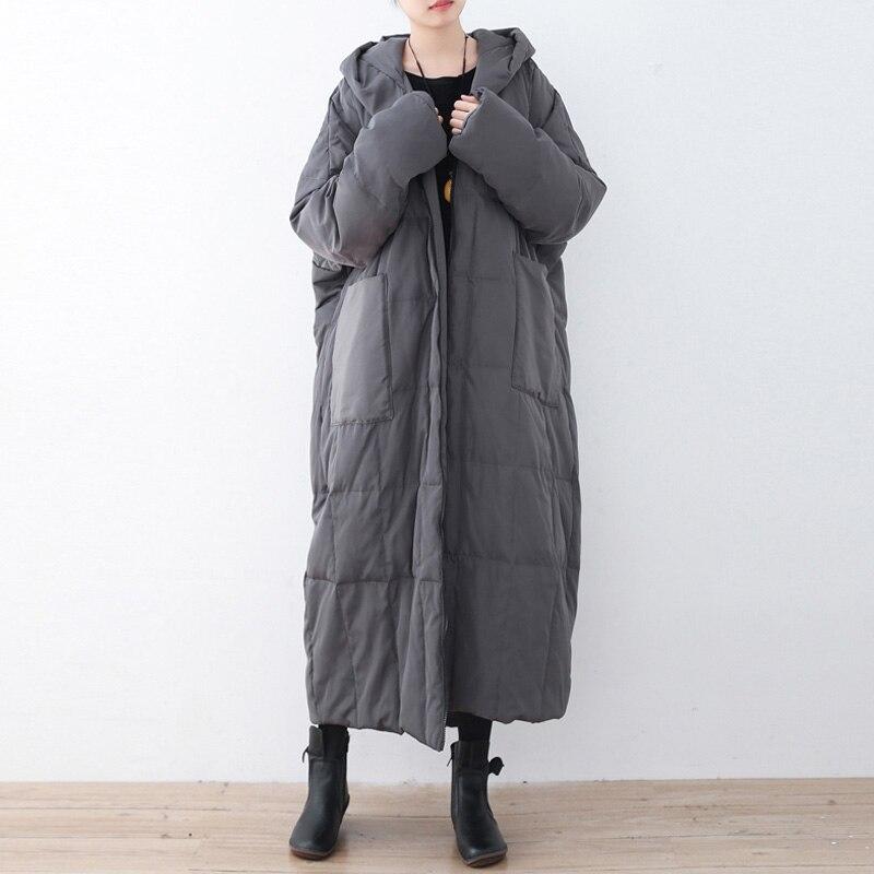 Johnature Women สีทึบลงเสื้อโค้ท Hooded วินเทจ 2019 ฤดูหนาวใหม่ Plus ขนาดเสื้อผ้าผู้หญิงกระเป๋าคุณภาพสูง Coats-ใน เสื้อโค้ทดาวน์ จาก เสื้อผ้าสตรี บน   1
