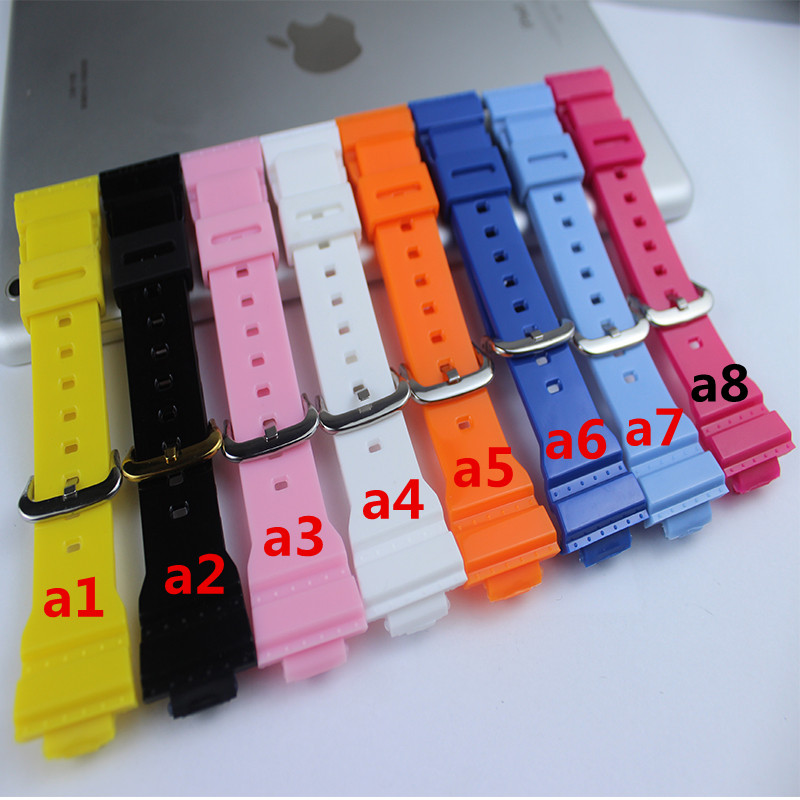 Latest Silicone Strap Applies for Casio Baby-G Series BA-110/111/112/BGA-130 Womens Plastic Silicone Light Strap Watch Accessor