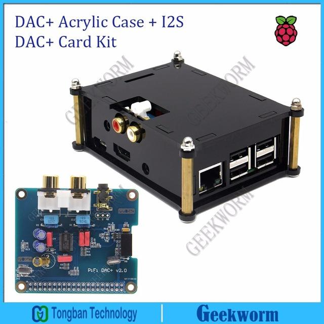 Caso y la Interfaz I2S DAC + Acrílico PCM5122 PiFi DIGI DAC + HIFI IGI Audio Decoder Digital Raspberry PI 3 Modelo B/2 B Sonido tarjeta