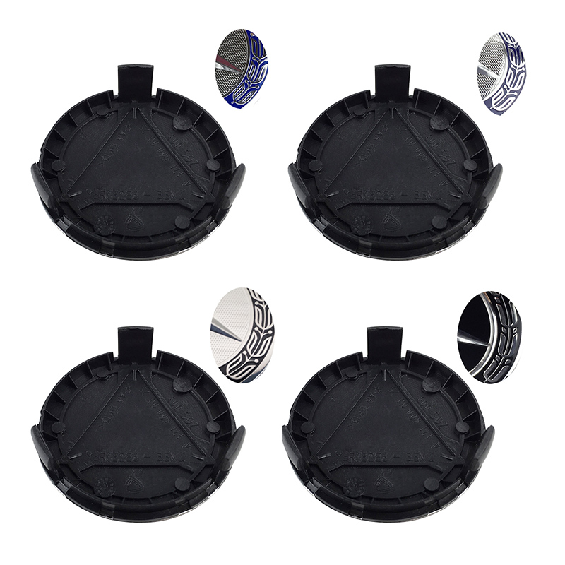 цена на 4pcs/lot 75mm New Black Chrome 3pin Car Wheel center Hub Caps Cover cap For Mercedes Benz W211 W221 W220 W163 W164 W203 W204