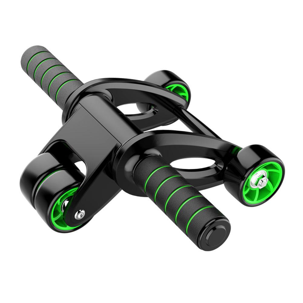 4-en-1 pliable AB roue rouleau Kit élastique corde tapis sauter corde ensemble Fitness équipement mâle et femelle ventre roue formateur