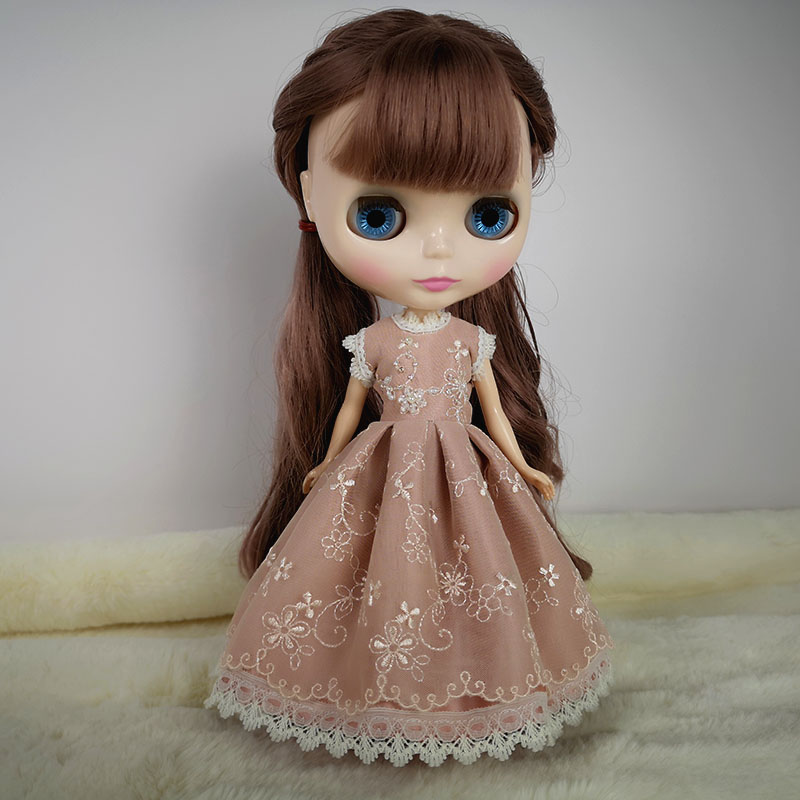 B250 Blyth Doll clothes 1/4 1/6 dolls Accessories handmade Customized Pink beaded dress 1pcs