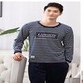 A8 Осенью и зимой Пижамы толщиной отдых дышащий комфортно с длинными рукавами Плюс Размер фланели мужская пижама обслуживание на дому