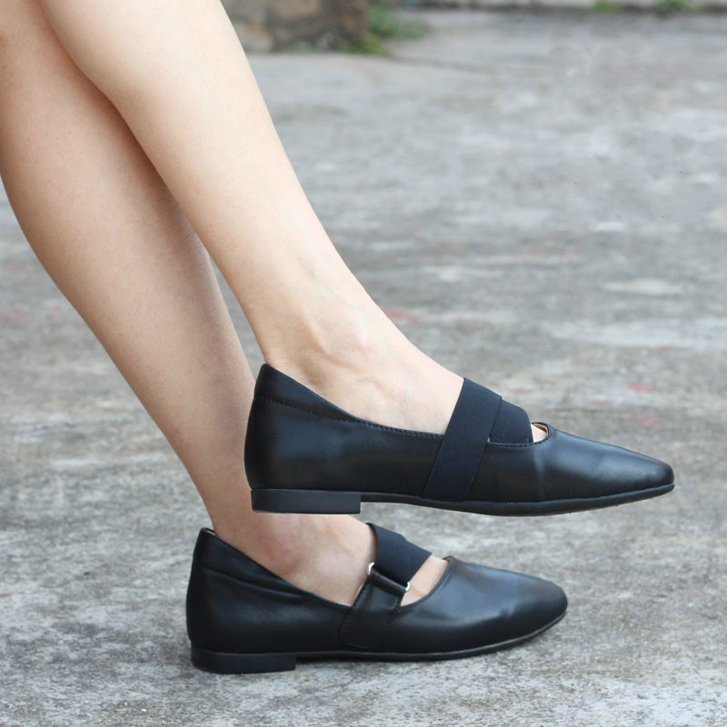 Women shoes Pointed toe Flat Slip on Loafers Ladies leather Ballet Flats Genuine Leather shoes for Women (0613-2) big size 34 44 2018 spring women flats shoes women genuine leather flats ladies shoes female cutout slip on ballet flat loafers