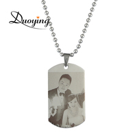 DUOYIGN Personalized Photo Engraved Necklace Custom Picture Back Engraving Necklace Pendant Anniversaries Mother S Day Gift