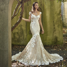 Sofuge 2019 Magical Manual Mermaid Wedding Dress Backless