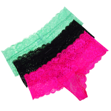 Sexy G String Women Lace Transprent Low Waist Thongs Underwear Briefs lace panties