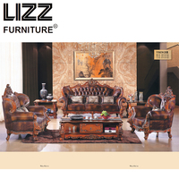 Chesterfield Corner Sofa Set Living Room Royal Furniture Antique Style Sofa Loveseat Armchair Furniture For Home