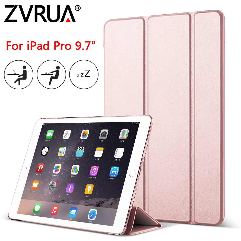 Case for New iPad Pro 9.7 inch 2016, ZVRUA YiPPee Color Ultra Slim PU leather Smart Cover Case Magnet wake up sleep for Pro9.7 arrival selling ultra thin super slim sleeve pouch cover microfiber leather tablet sleeve case for ipad pro 10 5 inch