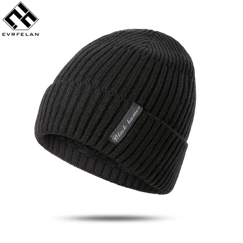 f4253c8b433456 Evrfelan Men's Winter Hat Fashion Knitted Cotton Hats Fall Hat Thick And  Warm Skullies Beanie Soft