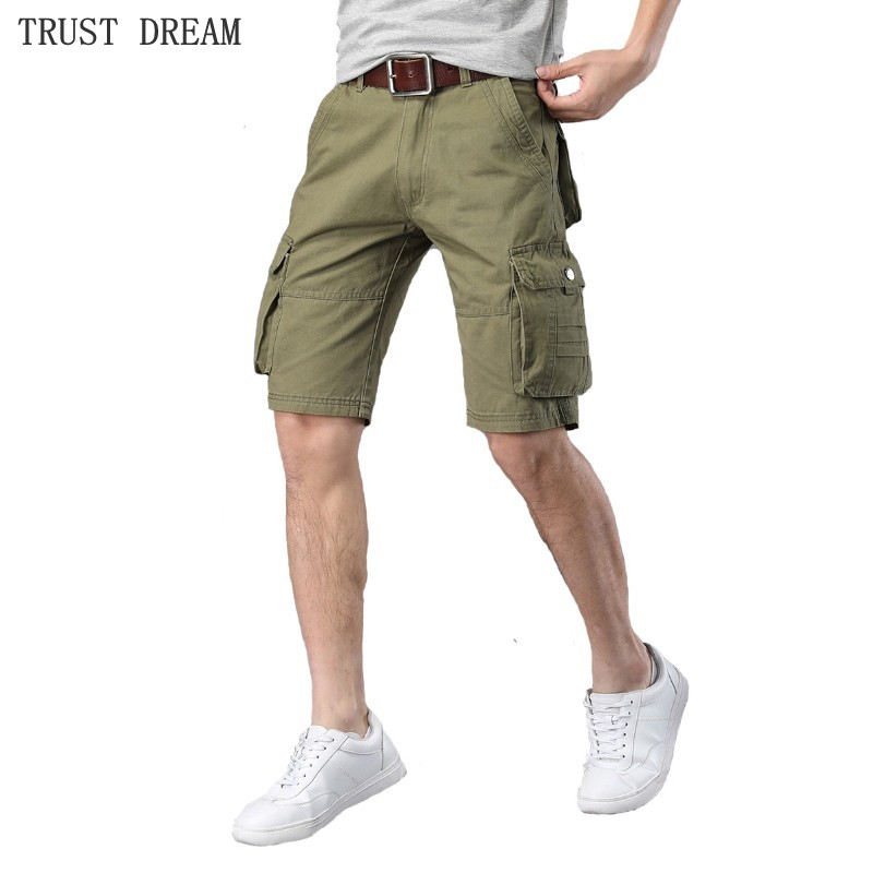 2018 Summer Cargo Style Quality Men Fashion Slim Shorts More Pockets Leisure Outside Man Casual Workout Short
