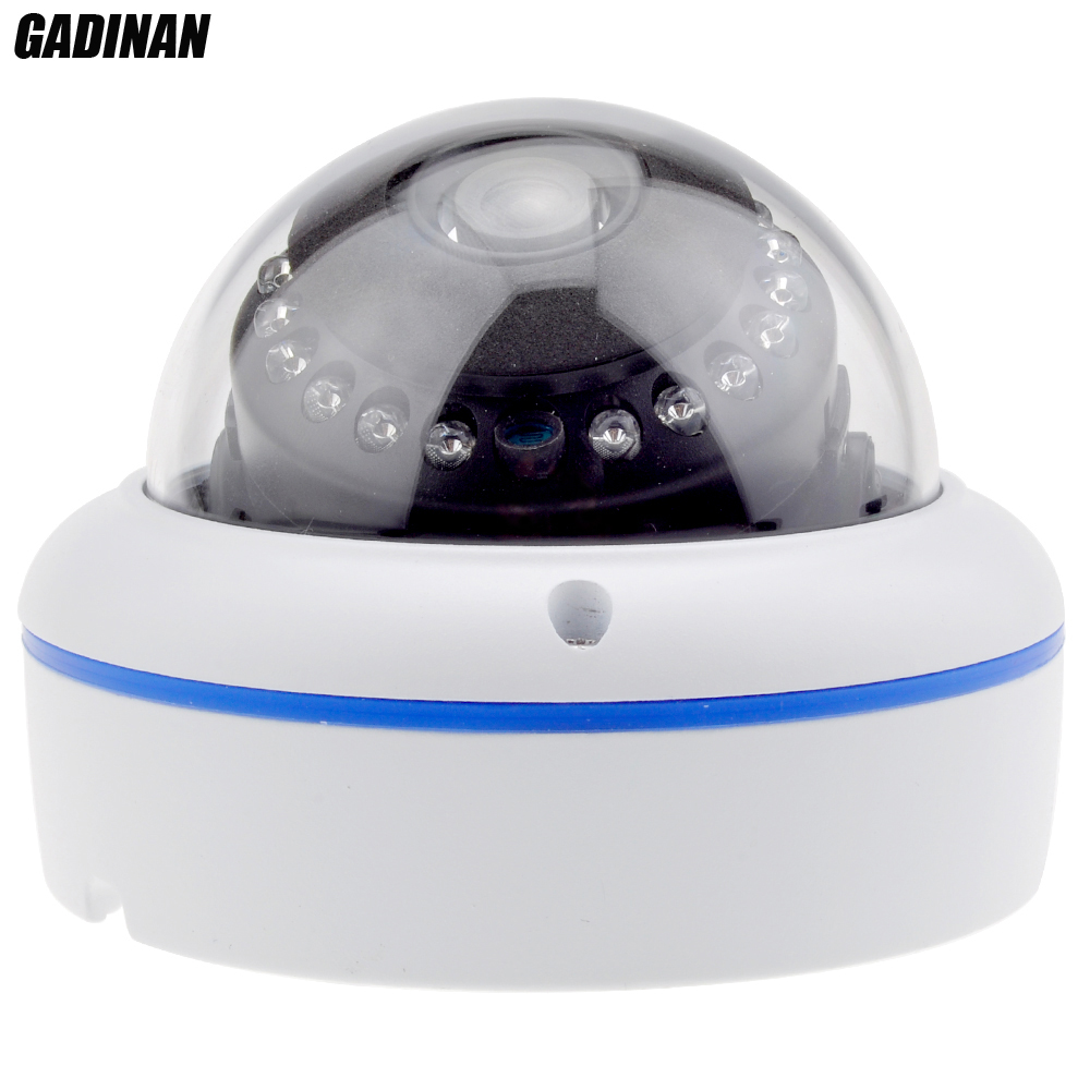 ФОТО GADINAN H.265 HEVC 2MP 3MP Hi3516D 25FPS Onvif P2P Outdoor Vandal Proof Dome Night Vision Security IP Camera Motion Detection