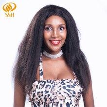 SSH Remy парик человеческих волос странный прямой Glueless парики фронта шнурка с волосами