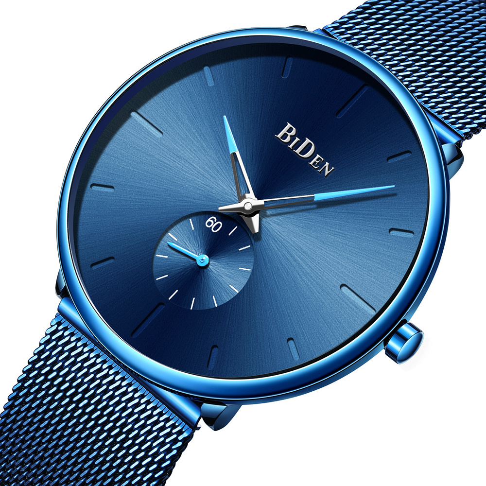 Mens Watches Top Brand Luxury Quartz Ultra Thin Minimalist Wristwatch Men Fashion Casual Mesh Steel Clock Male Relogio Masculino in Quartz Watches from Watches